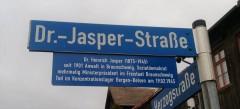 Straßenschild Dr. Jasper-Straße Blankenburg