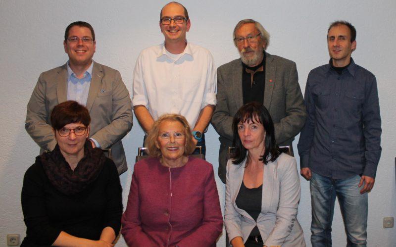 Hinten von links nach rechts: Sebastian Bruch (Beisitzer), Philipp Eysel (Vorsitzender), Heinz Grimme (Beisitzer) und Jens Grezes (Schriftführer) / vorne: Kerstin Hinz (stellvertretende Vorsitzende), Christa Grimme (Beisitzerin), Elke Stutzkowski (Kassiererien).